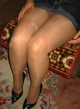 Women who cum in pantyhose consider, that