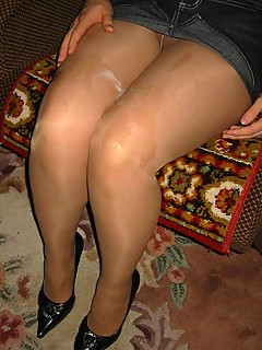 Cum on Pantyhose